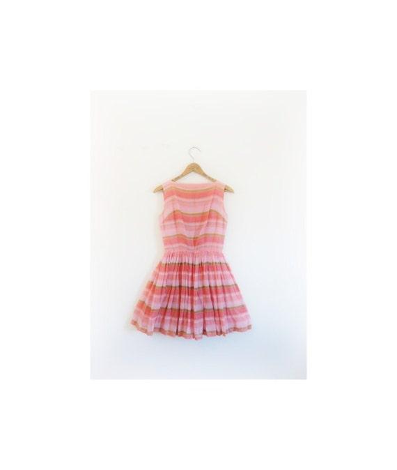 1940s-1950s SORBET strawberry mini dress