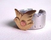 Bird Ring - Dove Design - Artisan Silver Jewelry
