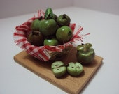 Dolls House Miniatures - Apple Basket