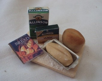 Dolls House Miniatures - 1/12th BREAD MAKING SET