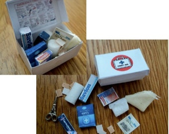 Dolls House Miniatures - 1/12th First Aid /Medicines box