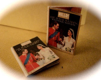 DOLLS HOUSE MINIATURES - 1/12th Royal Wedding Openable Magazine