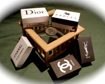Dolls House Miniatures- 1/12th Designer Shopping Boxes