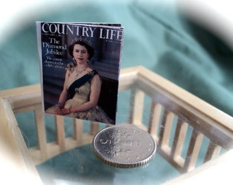 DOLLS HOUSE MINIATURES - 1/12th Royal Diamond Jubilee Openable Magazine