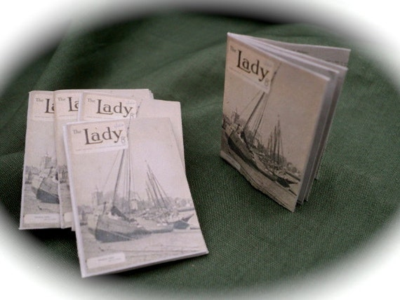DOLLS HOUSE MINIATURES - Period Openable Magazine