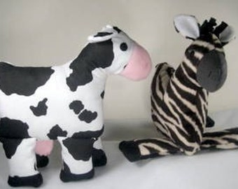 SALE-PDF ePattern-Soft and Cuddly Zebra and Cow