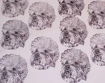 Dandi Dinmont Terrier Craft Fabric