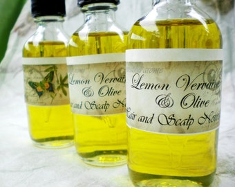 Lemon Vervaine & Olive HAIR and SCALP NOURISHMENT with coconut, babassu, murumuru, acai fruit oils