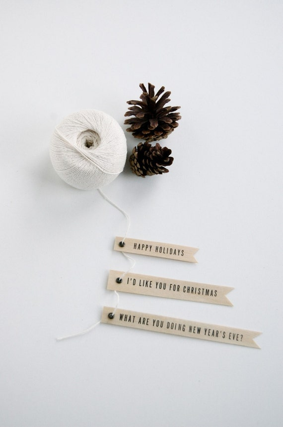 Letterpress Holiday Gift Flags