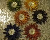 Autumn Daisies - handmade paper flowers