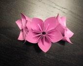 Kusadama Origami Flowers - Purple - Set of 3