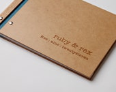 Wedding Guest Book. Custom Guestbook. Engagement Gift. Anniversary. Bridal Shower