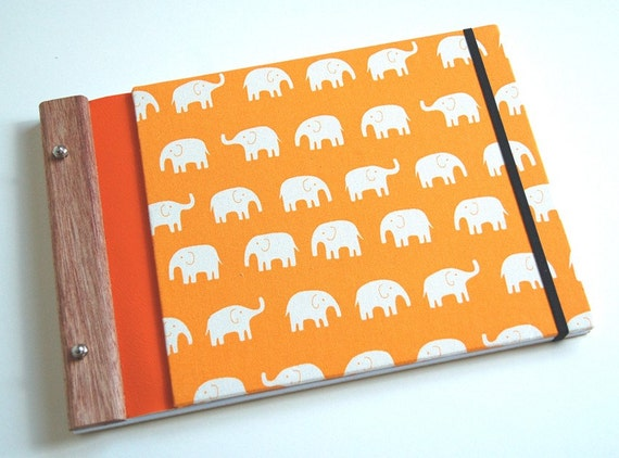 journal handmade eco friendly // elephants go marching two by two