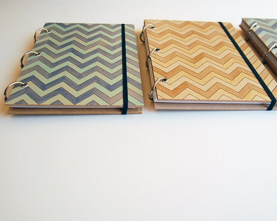 chevron 2012 diary BLUE // hand painted & reusable