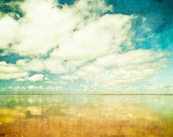 Summer clouds - Fine Art Photography Print on Metallic Paper