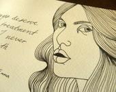 The Best Treatment, Jane Austen inspired art from the book Emma. 8 x 11cm illustration.