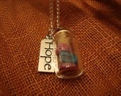 Long Hope and Bottle Necklace