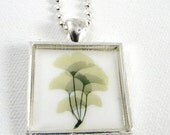 ON SALE Ginko leaves necklace