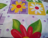 Upcycled Fabric Bed Sheet One Yard Bold, Bright and Beautiful