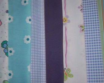 """Vintage Fabric Bed Sheets Dreamy Baby Layered Cake (42-10"""" Squares)"""