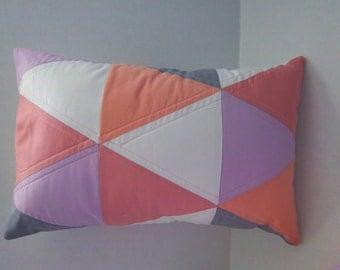 Decorative Pillow, Lumbar Pillow, Modern Toss Pillow, Accent Pillow, (cover) by Dreamy Vintage Sheets