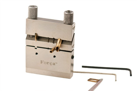 Forca RTGS-467 Jewelry Miter Joint Cutting Tubing Jig Saw Vise - Perfect Geometrical Shape Cutter 45  / 90 & 135 Degree Angle Tool