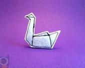 Origami Swan Feltpin Brooch