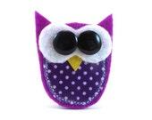 Owl Wanjka Feltpin Brooch