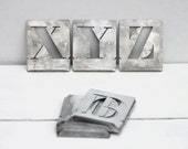 Vintage Letter stencils: Choose your own three letters