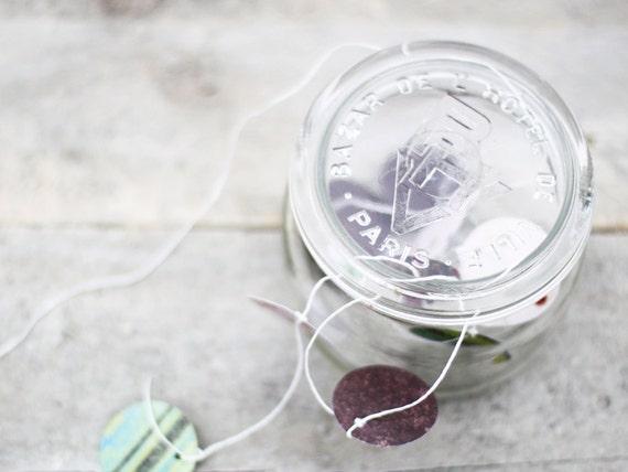 Antique French glass jar, A rare and beautiful glass jar from Bazar Hotel de Ville Paris
