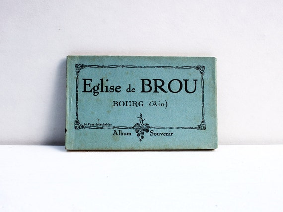 Vintage French postcards from Eglise de Brou