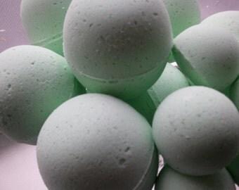 14 bath bombs in China Rain fragrance, gift bag bath fizzies, great for dry skin, shea, cocoa, 7 ultra rich oils