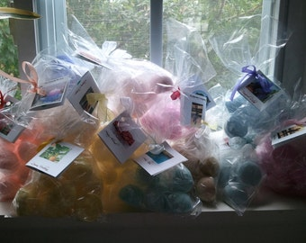 25 gift bags Bath Bomb fizzies with 2 bath bombs per bag (1 oz each) 100 fragrances, pick up to 10 scents