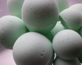 14 bath bombs 1 oz each (China Rain) gift bag bath fizzies, great for dry skin, shea, cocoa, 7 ultra rich oils