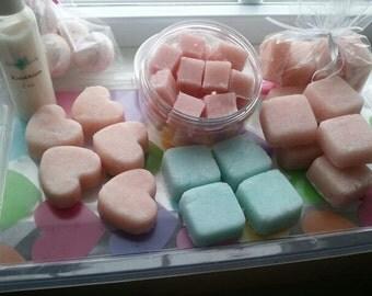 Ultra-'Rich SUGAR SCRUB CUBES, exfoliate, 100's of Fragrances (4 - 1 oz squares- 4 oz total)