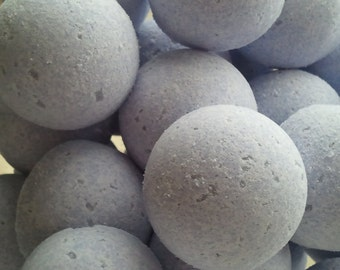 14 bath bombs in Calabrian Bergamot & Violet scent, gift bag bath fizzies, great for dry skin, shea, cocoa, 7 ultra rich oils
