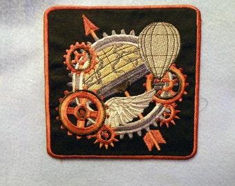 "Steampunk World Iron on Patch 4.3"""