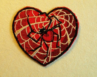 Webbed Heart Iron on Patch