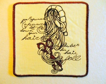Rapunzel Iron on Patch 6""