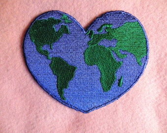 "Earth Love Iron on Patch 4.25"" x 3.5"""