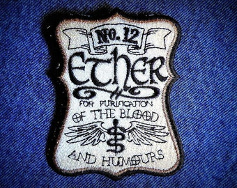 Ether No. 12 Label Iron on Patch