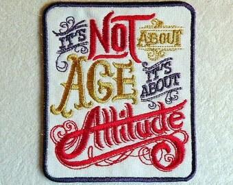Attitude Iron on Patch