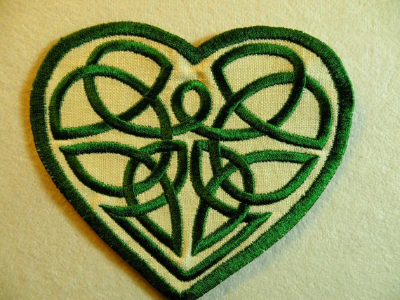 Celtic Knot Heart Iron on Patch