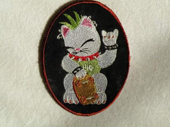 Punkie Kitty Iron on Patch