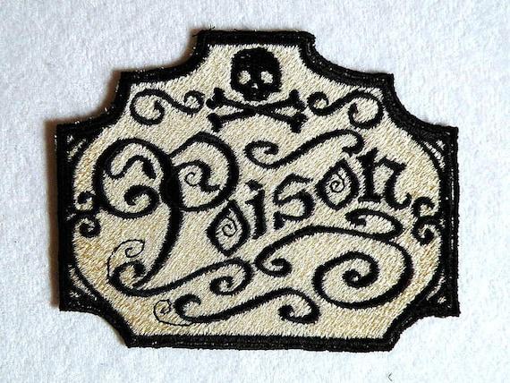 Apothecary Poison Iron on Patch