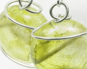 SALE - Green and Gold Dragon's Tear Earrings