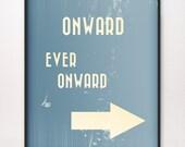 8x10 Onward Ever Onward Art Print LDS Mormon