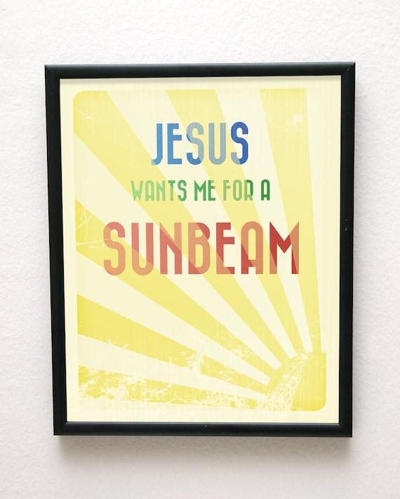8x10 Jesus Wants Me For A Sunbeam Giclée Art Print LDS Mormon Christian