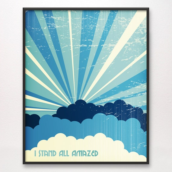 16x20 • I Stand All Amazed • Art Print • LDS Mormon Christian God Jesus