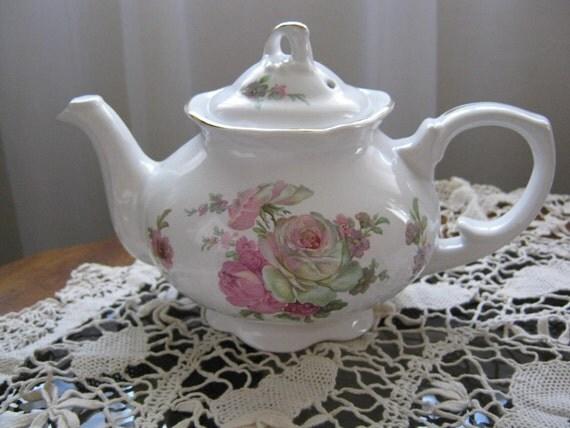 Vintage Arthur Wood & Son Rose Staffordshire England Teapot